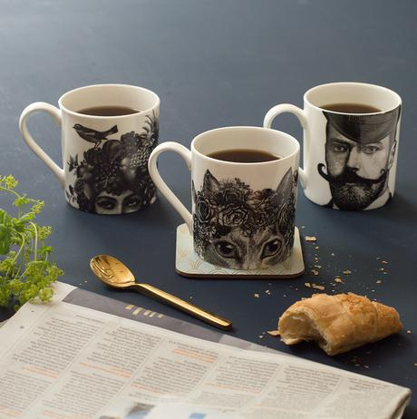 Elements every home should have- illustrated mugs
