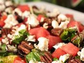 Watermelon Salad with Toasted Pecans Gorgonzola Cheese