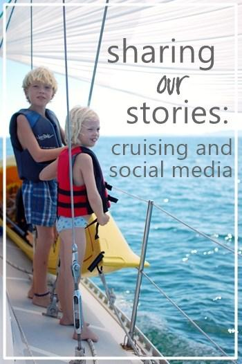two kids on a boat with text overlay for Pinterest