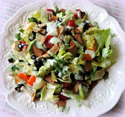 Mexican Salad with a Coriander Lime Dressing