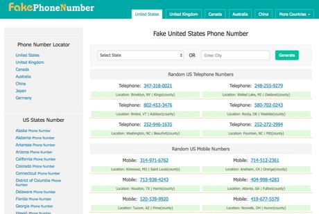 Best Fake Phone Number Generator Tools, Apps, Sites 2018