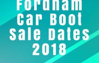 Fordham Car Boot Sale Dates 2018