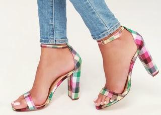 Shoe of the Day | Lulus Taylor Pink Plaid Ankle Strap Heels