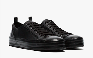 A Stitch In Time:  Ann Demeulemeester Leather Stitch Detail Sneakers