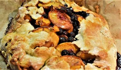A Peach and Blueberry Galette