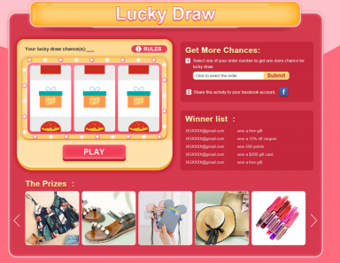 Newchic 4th Anniversary Sale Lucky Draw