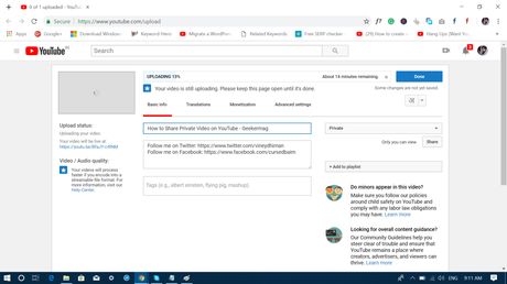 How to Share Private YouTube Video – 2018