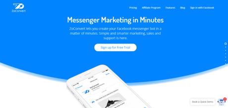 ZoConvert Review August 2018: Is It Best Facebook Messenger Chatbot??