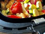 Airfryer Roasted Mediterranean Vegetables with Halloumi Cheese