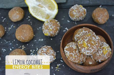 Lemon Coconut Energy Bites (gluten free, vegan)