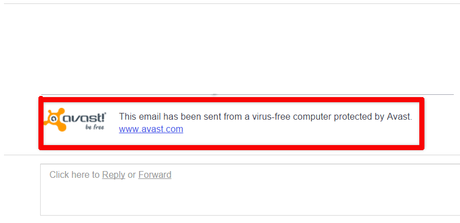 how to remove avast email signature