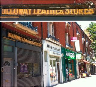 Holloway Leather Stores – lovely carved wooden shop sign reveal in N7
