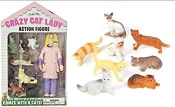 Image: Accoutrements Crazy Cat Lady Action Figure Set