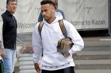 Brazilian star Neymar wearing AirPods.