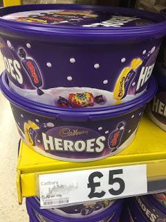 Cadbury Heroes & Celebrations Tubs now in shops! #christmasinsummer