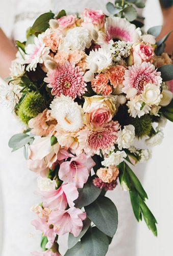 elegant wedding bouquets pink casacade bouquet jessicajonesphotography