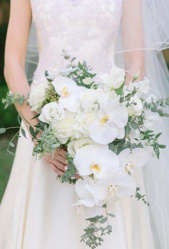 elegant wedding bouquets white casacase bouquet an gle events