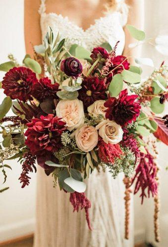 elegant wedding bouquets marsala rustic bouquet allisonslater