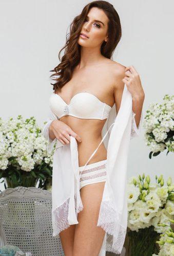 bridal undergarments bride in robe adornlesdessous