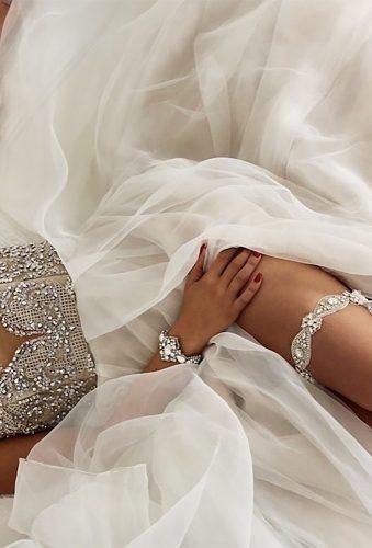bridal undergarments thin bridal garter with stones lagartier