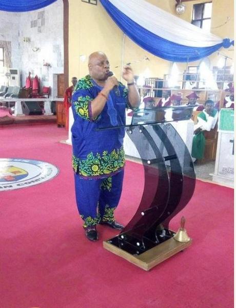 The Moment Dancing Senator, Ademola Adeleke Stormed A Church (Photos)