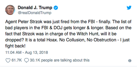 I'm Just Surprised It Took This Long For FBI To Fire Strzok