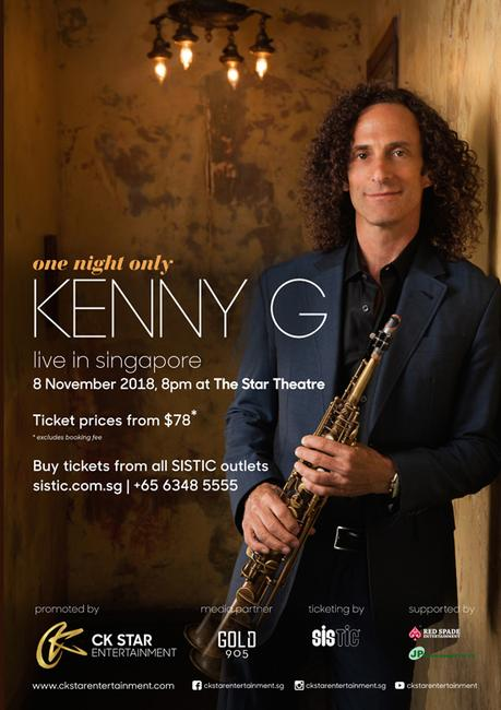 Kenny G Is Coming To Singapore For One Night Only