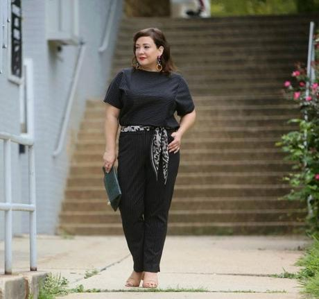 What I Wore: Pinstriped Ponte