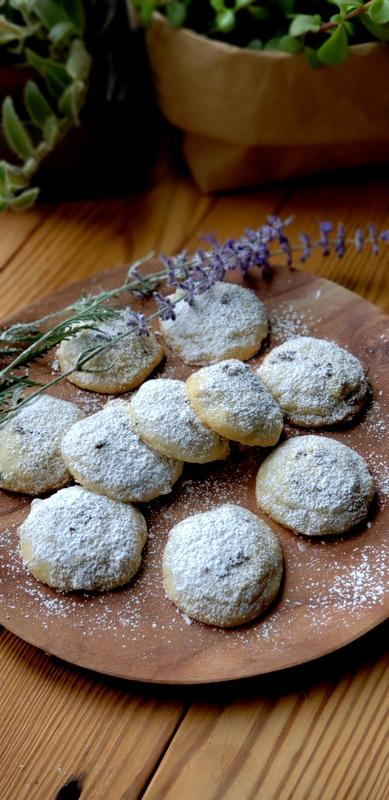almond lavender butter cookies