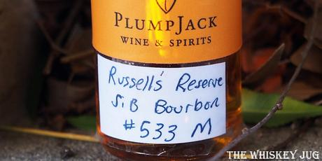 Russell's Reserve Bourbon Whiskey Label