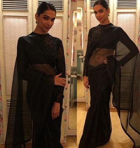 Deepika wearing saree