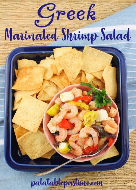Greek Marinated Shrimp Salad #FishFridayFoodies