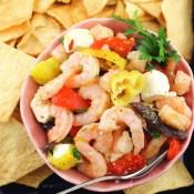 Greek Marinated Shrimp Salad #FishFridayFoodies