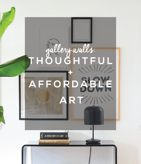 Affordable & Thoughtful Art for Gallery Walls + An IGTV Tutorial