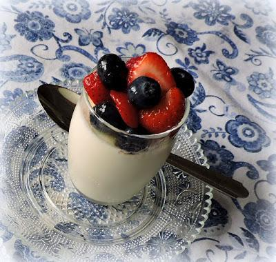 Simple Panna Cotta with Mixed Berries