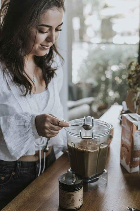 All About Mushroom Coffee + My Mushroom Coffee Mocha Recipe! This post will answer all of your questions about my mushroom coffee drink. It's energizing, filling, and so delicious.