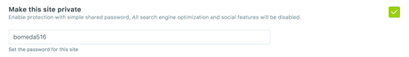 Managing admin settings