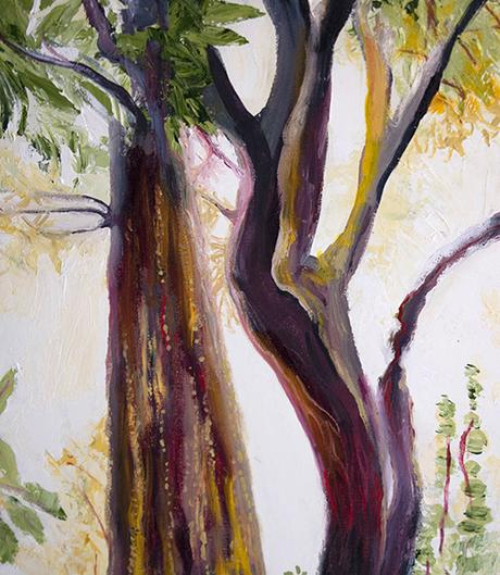 Detail: Jungle Glow. 36″ x 12″, Oil on Canvas, © 2018 Cedar Lee