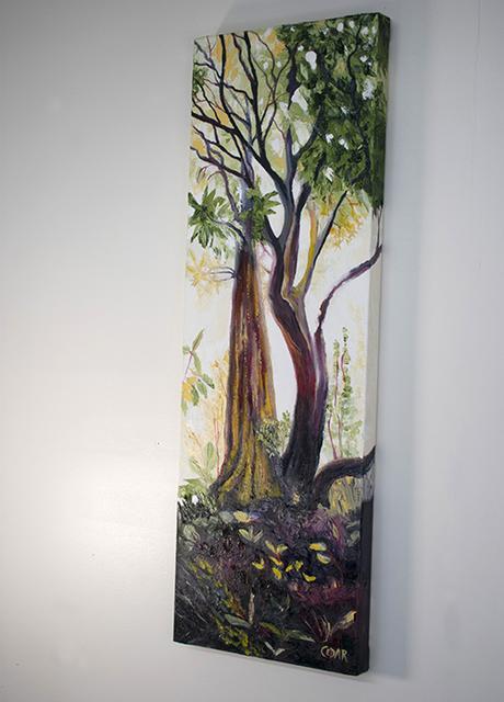 Jungle Glow. 36″ x 12″, Oil on Canvas, © 2018 Cedar Lee