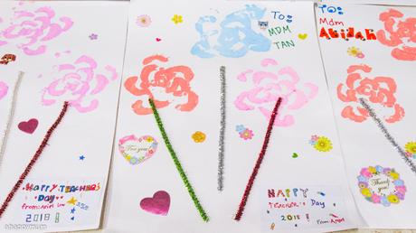 Creativity 521 #118 - Celery stamped flowers {Happy Teacher's Day 2018}
