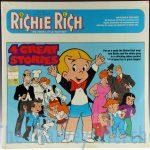 Richie Rich 4 Great Stories story record front view of sleeve.