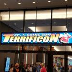 Terrificon sign at entrance to Convention Center