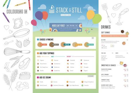 Menus for the pancake heaven that is Stack and Still