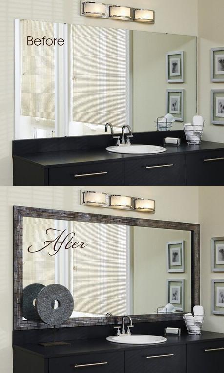 20. Framing Bathroom Mirror Ideas - Harptimes.com
