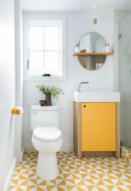 Bathroom Mirror Ideas 13. Oval Mirror for Beach-Style Bathroom - Harptimes.com