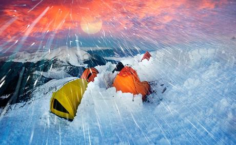 Snowstorms in a Tent