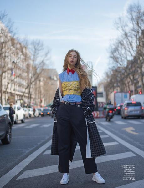 Alexis Kapaun in Paris Tres Chic by Benjamin Kanarek for Grazia