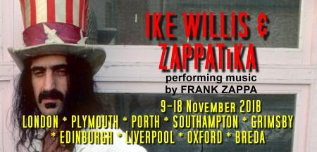 Ike Willis & ZAPPATiKA: on tour in the UK & The Netherlands