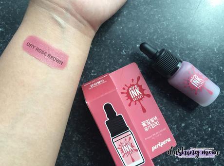Peripera Ink Velvet Review   #10 Dry Rose Brown