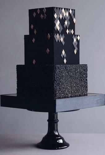 black wedding cake square black cake tortikannuchka